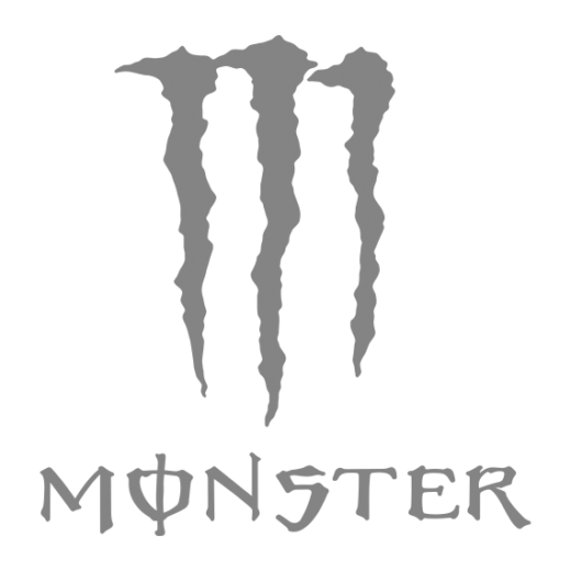 monster energy drinks gray scale
